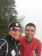 Top of Little Whiteface Mountain, All smiles prior to decent. Cogburner was making it down..... Albeit slowly the mountain managers wanted to evacuate him on a toboggan... Luckily convinced than to let us ski back up and take Gondola down. Ski school in his future.