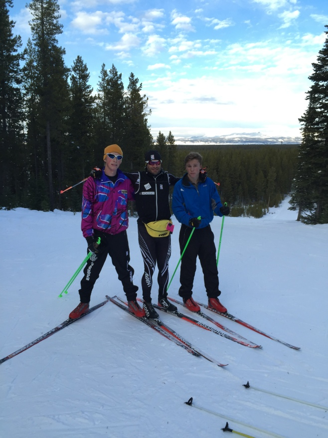 Skiing with older boys. A treat since they've gone to Alpine free skiing.